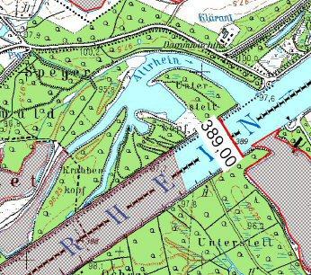 Karte Mechtersheimer Altrhein