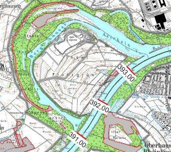 Karte Berghäuser Altrhein